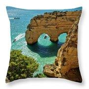 Marinha Arches, Portugal Throw Pillow
