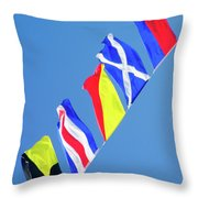 Maritime Signal Flags Throw Pillow