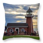 Mark Abbott Memorial Lighthouse And Santa Cruz Surfing Museum Throw Pillow