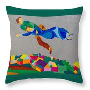 Mark And Bella Chagall Above The City Throw Pillow