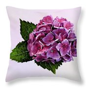 Maroon Hydrangea Throw Pillow