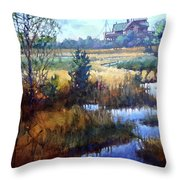 Marsh Living Throw Pillow