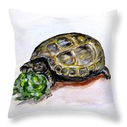 Marshal The Turtle Throw Pillow by Clyde J Kell