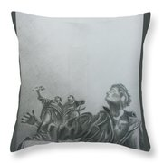 Martyrs' Square Statue-beirut Throw Pillow