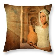 Mary Throw Pillow by Mark Allen