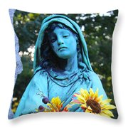 Mary, Mother Of Jesus Throw Pillow