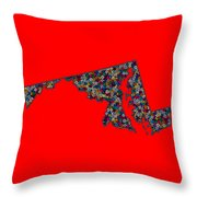 Maryland Map - 2 Throw Pillow