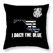 Maryland Police Appreciation Thin Blue Line I Back The Blue Throw Pillow