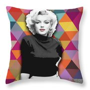 Marylin Monroe Diamonds Throw Pillow