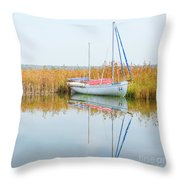 Masovian Lake Throw Pillow