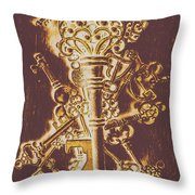 Master Key Throw Pillow