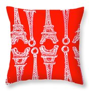 Match Made In Paris Throw Pillow