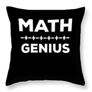Math Genius Apparel Throw Pillow