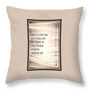 Matthew 10 20 Throw Pillow