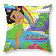 Maui Poster - Pop Art - Travel Throw Pillow