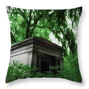 Mausoleum In Georgia IIi Throw Pillow