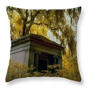 Mausoleum In Georgia  Throw Pillow