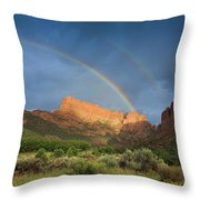Maxwell Canyon Rainbow Throw Pillow