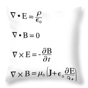 Maxwell's Equations Throw Pillow