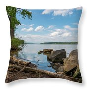 May Afternoon On The Hudson Throw Pillow