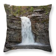 May Evening At Awosting Falls II Throw Pillow
