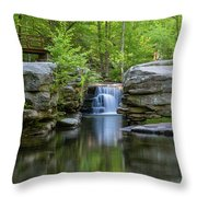 May Morning At Split Rock Throw Pillow