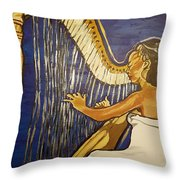 May The Strings Make You Smile Throw Pillow
