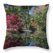Maymont Japanese Garden Pond Throw Pillow by Jemmy Archer
