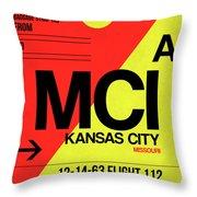 Mci Kansas City Luggage Tag I Throw Pillow