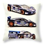Mclaren F1 Gtr Throw Pillow