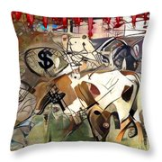 Meat  Abstract Art Throw Pillow