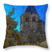 Medieval Bell Tower 3 Throw Pillow