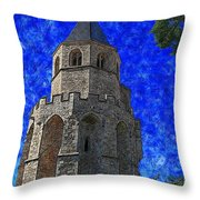 Medieval Bell Tower 4 Throw Pillow