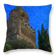 Medieval Bell Tower 5 Throw Pillow