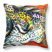 Mediterranean Fish Throw Pillow