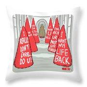 Melania Christmas Trees Throw Pillow