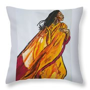 Melanie Fiona Throw Pillow