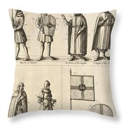 Members Of The Order Of Christ  Throw Pillow