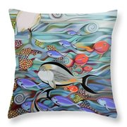 Memory Of The Coral Reef Throw Pillow