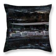 Merchandise Beside A Railroad Track  Throw Pillow by Juan Contreras