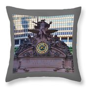 Mercury Above Grand Central Throw Pillow