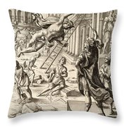 Mercury And Aeneas  State    Throw Pillow
