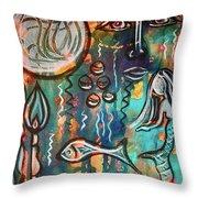 Mermaids Dream Throw Pillow