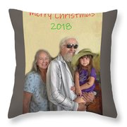 Merry Christmas 2018 Throw Pillow