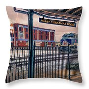 Merry Christmas From Bristol Throw Pillow