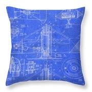 Merry Go Round Amusement Carousel Vintage Patent Blueprint Throw Pillow