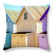 Mersea Island Beach Huts, Image 6 Throw Pillow