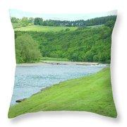 Mertoun Salmon Beat On River Tweed Throw Pillow