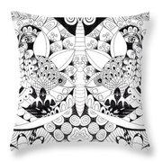 Metamorphosis Arrangement 1 Throw Pillow