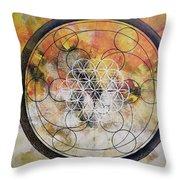 Metatronic Throw Pillow